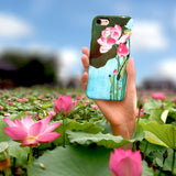 Flowering Lotus - Cute Japanese Art Phone Case for iPhone X/XS