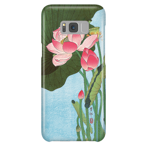 Flowering Lotus - Japanese Art Phone Case for Samsung Galaxy S8 Plus
