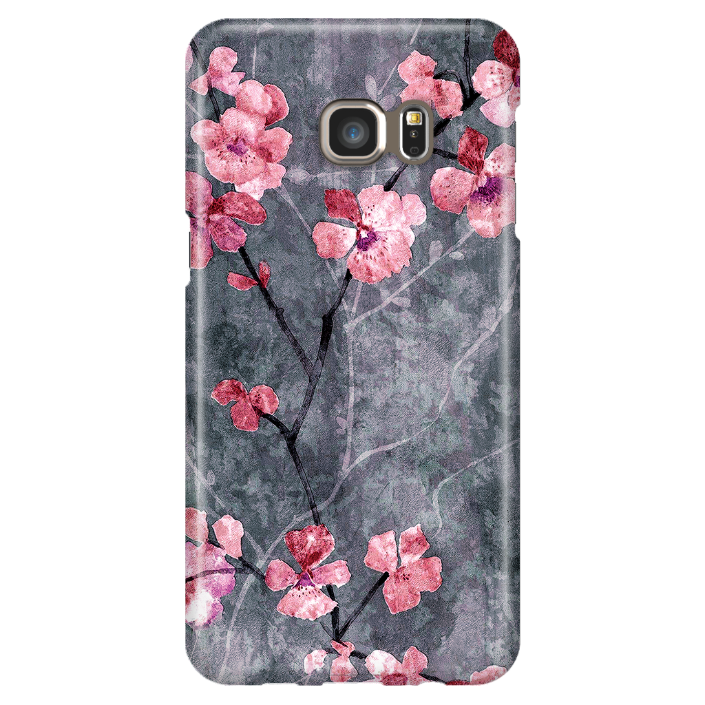 Cherry Blossom Slate - Elegant Cute Case - Samsung Galaxy S6 Edge Plus