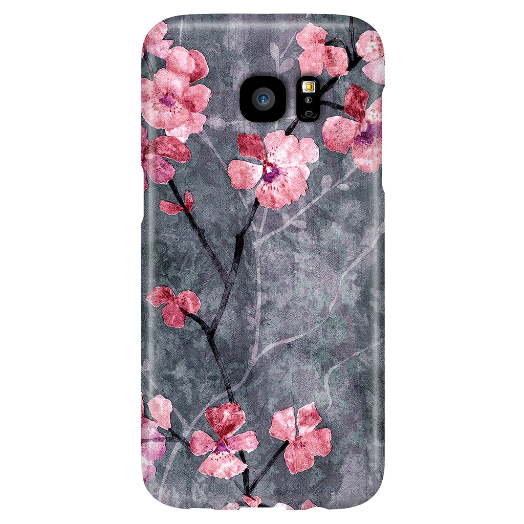 Cherry Blossom Slate - Elegant Cute Case for Samsung Galaxy S7 Edge