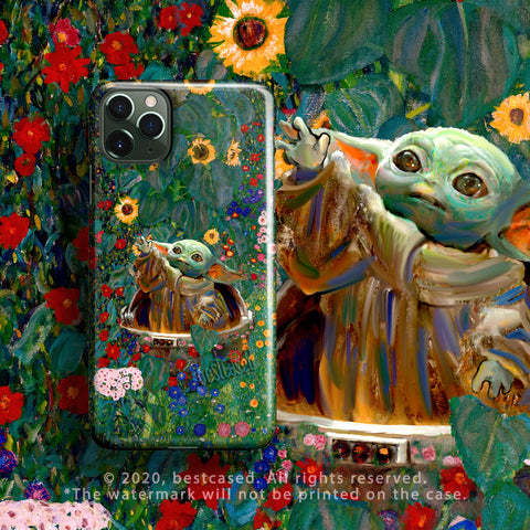 Baby Yoda iPhone 12 Pro Max Case iPhone SE 2020 Case Star Child Flowers Wars iPhone 12 mini Case iPhone 11 Case XR 8 XS/X 6 Gift Girl Klimt