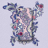 Indigo Blush - Vintage Art Phone Case for iPhone X/XS