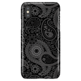 Black Paisley - Elegant Art Phone Case for iPhone X/XS