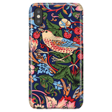 William Morris Strawberry Thief - Floral Art Phone Case for iPhone X/XS