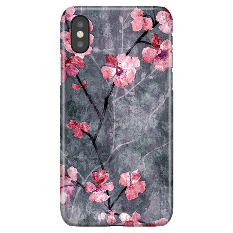 Cherry Blossom Slate - Elegant Cute Phone Case for iPhone X/XS
