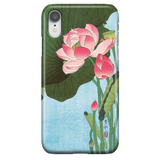 Flowering Lotus - Cute Japanese Art Phone Case for iPhone XR