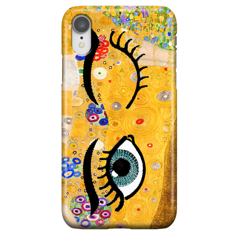 Kiss & Wink - Cute Art Phone Case for iPhone XR