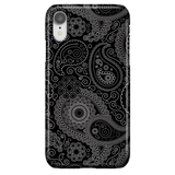Black Paisley - Elegant Art Phone Case for iPhone XR