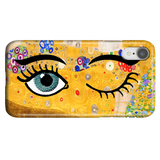 Funny Unique Phone Case iPhone XR, Gustav Klimt - Kiss & Wink