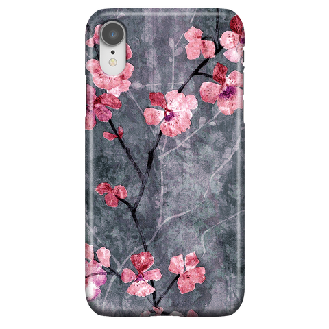 Cherry Blossom Slate - Elegant Cute Phone Case for iPhone XR