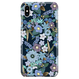 Cute Floral iPhone XS Max Case - Blue Flowers - Jardin Bleu