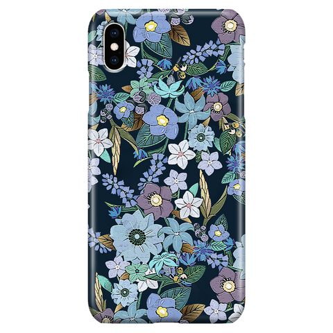 Jardin Bleu - Cute Floral Phone Case for iPhone XS Max