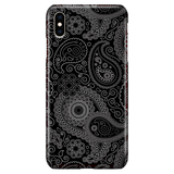 Black Paisley - Elegant Art Phone Case for iPhone XS Max
