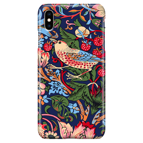 William Morris Strawberry Thief - Floral Art Phone Case for iPhone XS Max