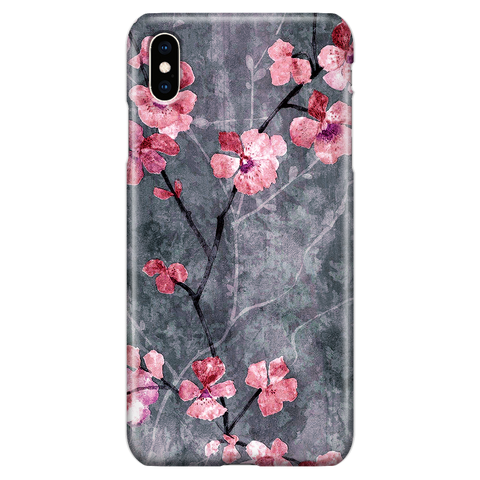 Cherry Blossom Slate - Elegant Cute Phone Case for iPhone XS Max