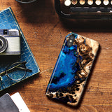 Fluid Art Marble Phone Case for iPhone X/XS - Ocean Blue