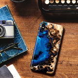 Marble Phone Case for Samsung Galaxy S9 Plus - Ocean Blue
