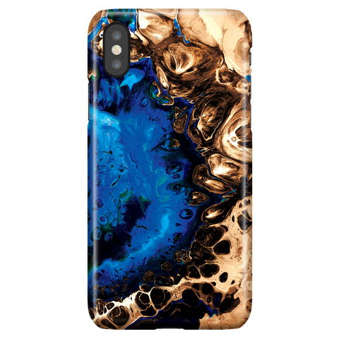 Ocean Blue - Cute Fluid Art Marble Phone Case for iPhone X/XS