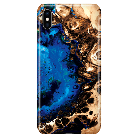 Cool Fluid Art Marble Phone Case for iPhone XS Max - Ocean Blue