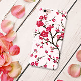 Cute Floral Phone Case Cherry Blossom for iPhone and Samsung Galaxy