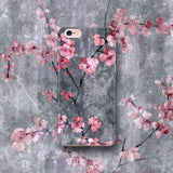 Cherry Blossom Slate Floral Phone Case - iPhone and Samsung - Japanese Style