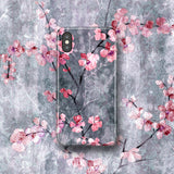 Cute Floral Phone Case Cherry Blossom - iPhone XS X - Japanese Style