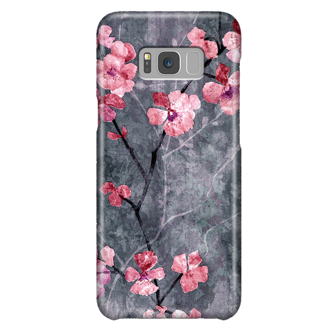 Floral Phone Case, Samsung Galaxy S8 Plus, Cherry Blossom Cute Sakura