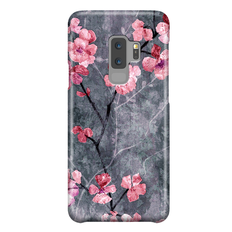 Cherry Blossom Slate - Elegant Cute Case for Samsung Galaxy S9 Plus