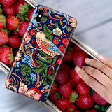 William Morris Strawberry Thief - Vintage Art Phone Case for iPhone XS Max