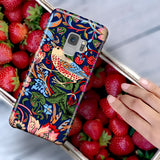 William Morris Strawberry Thief - Birds Phone Case for Samsung Galaxy S9