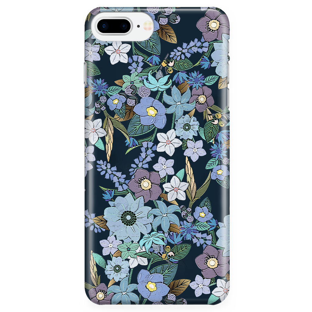 Cute Floral Phone Case for iPhone and Samsung Galaxy - Jardin Bleu