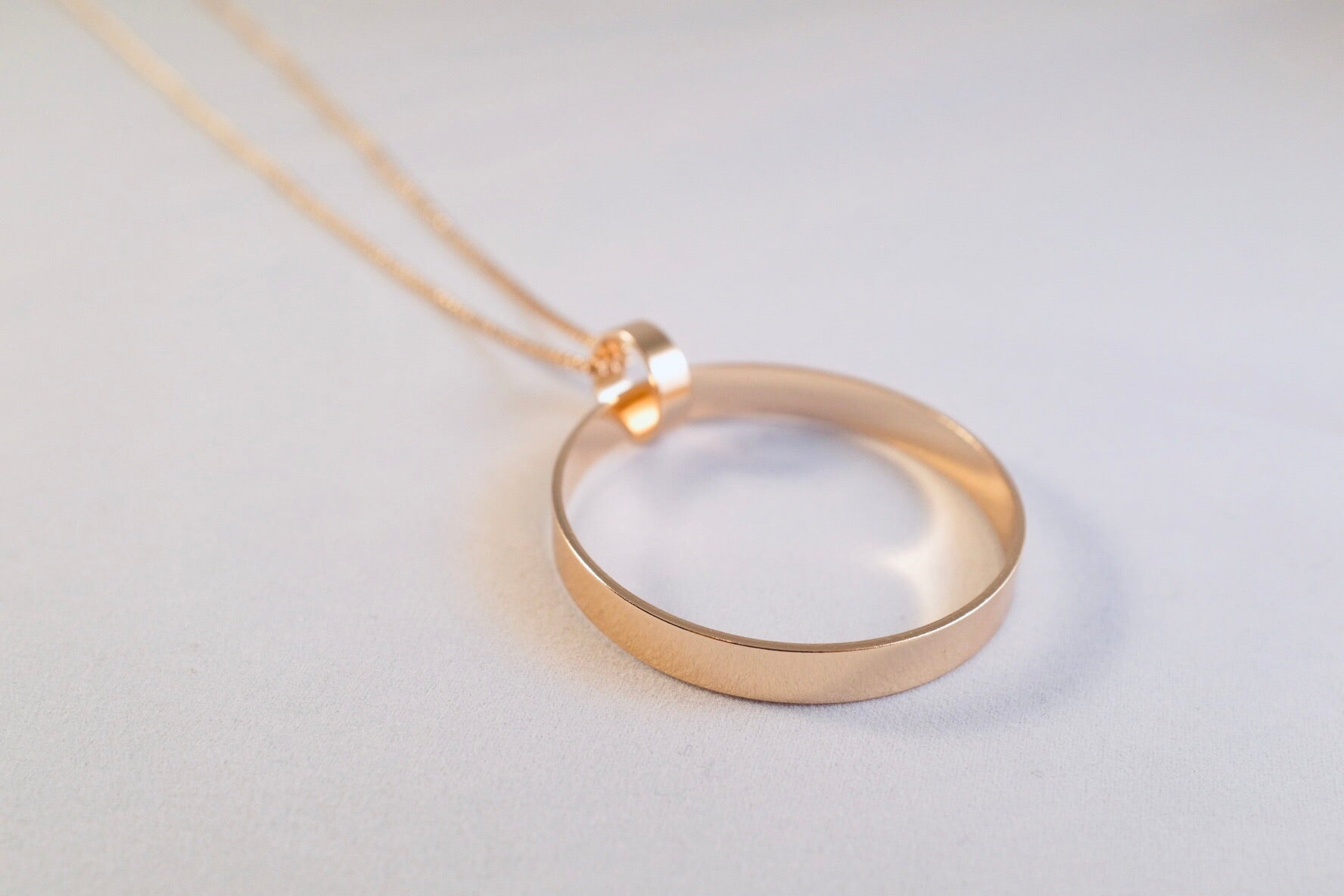 Gold Carla Entwined Circles Long Necklace