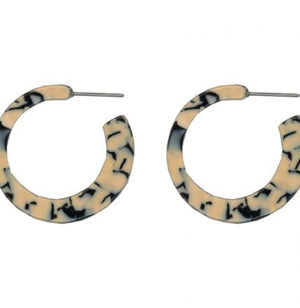 Charlotte Marbled Little Hoop Earrings