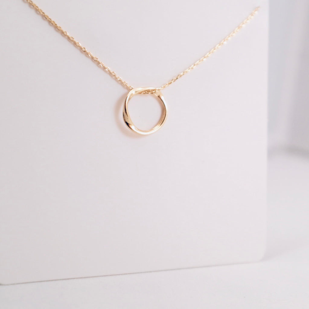 Gold Carmen Delicate Circle Necklace