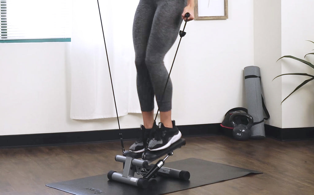 15 Minute Full Body Mini Stepper with Bands Workout
