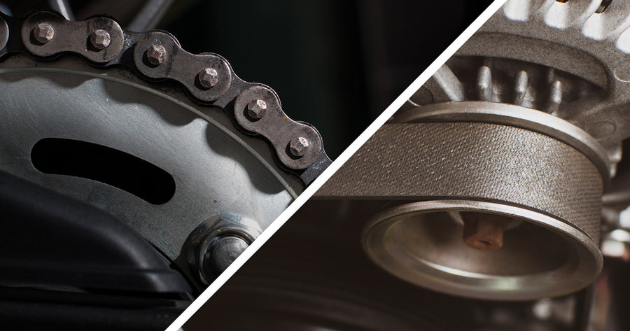 Chain drive vs. belt drive: general overview