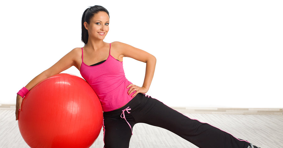 5 Stretches Using Aerobic Ball