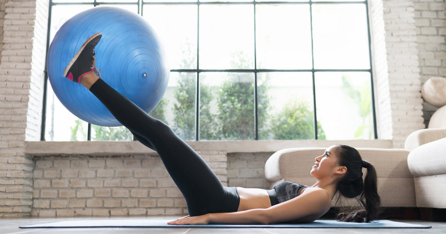 5 Minute Exercise Ball Toned Abs Workout