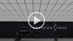 obsidian surge water rowing machine