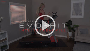 woman running on Evo-Fit incline treadmill
