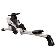 Commercial Folding Rowing Machine Rower w/ Heart Rate Monitor - Sunny Health and Fitness