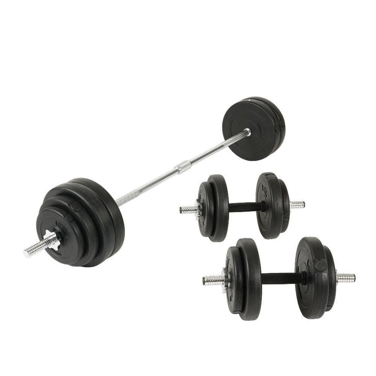 100Lb Vinyl Barbell (Dumbbell Set) - Sunny Health and Fitness