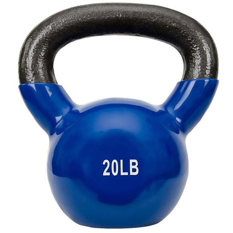 Vinyl Coated Kettle Bells 5 - 25 lbs - Sunny Health and Fitness