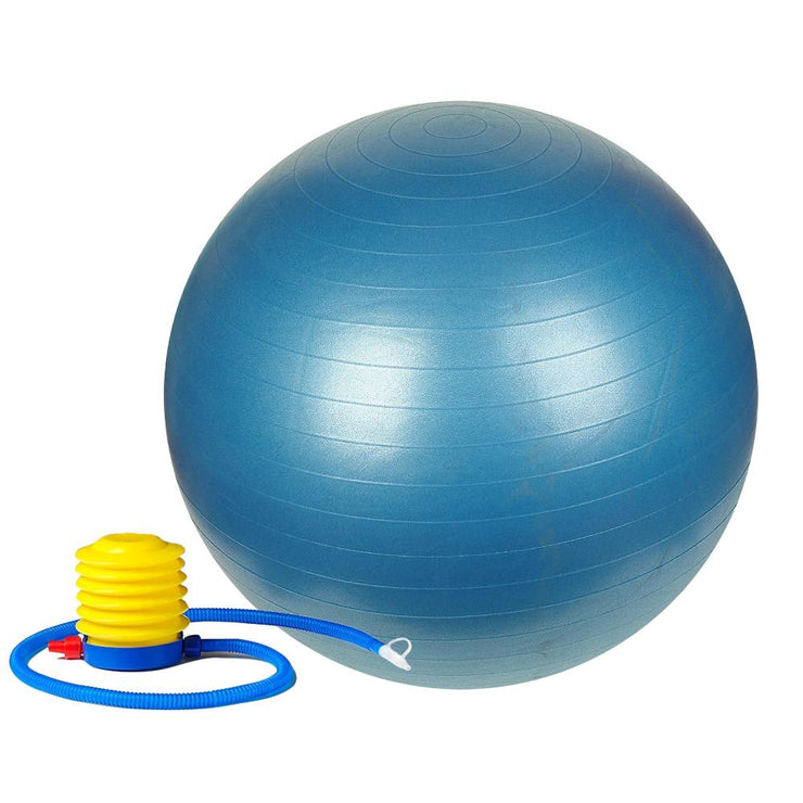 Anti-Burst Gym Ball w/ Pump - 55cm - 75cm - Sunny Health and Fitness - Blue