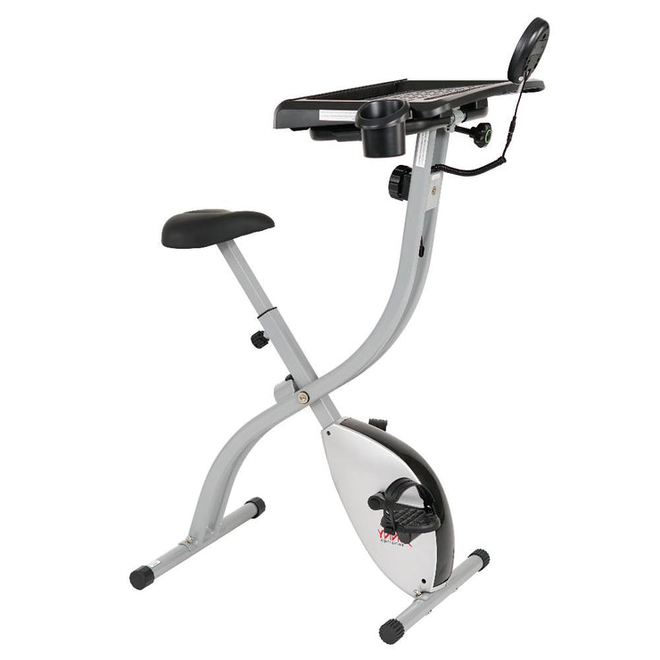 Convertible Works Folding Desk Bike - Sunny Health and Fitness