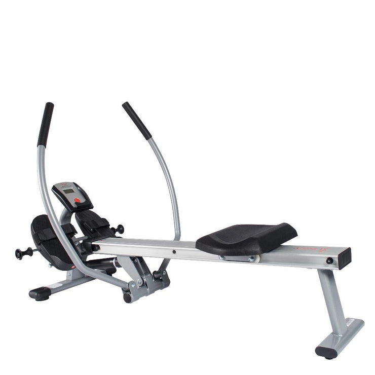 Full Motion Rowing Machine w/ High Weight Capacity, LCD Monitor and Aluminum Slide Rail - Sunny Health and Fitness
