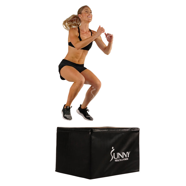 "Foam Plyo Box, 440lb Weight Capacity w/ 3 in 1 Height Adjustment - 30""/24""/20"""