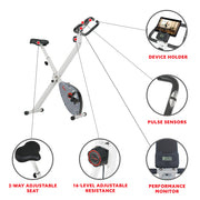 Stationary Exercise Foldable Bike
