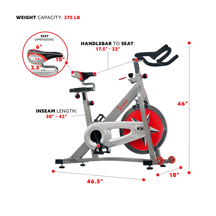 40lb Flywheel Chain Drive Pro Indoor Cycling Exercise Bike