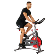 Belt Drive Indoor Cycling Bike Exercise Bike w/ LCD Monitor